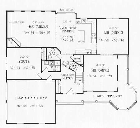 First Floor Plan image of Featured House Plan: BHG - 4463