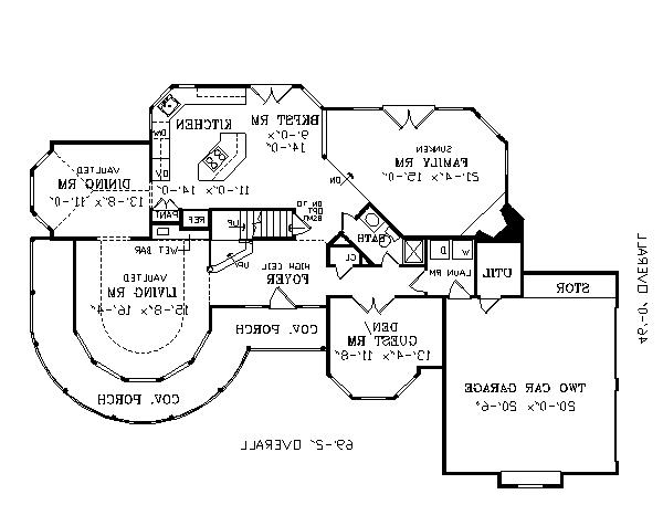 First Floor Plan image of Featured House Plan: BHG - 2795