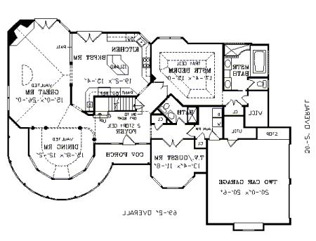 First Floor Plan image of Featured House Plan: BHG - 3389