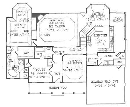 First Floor Plan image of Featured House Plan: BHG - 2799