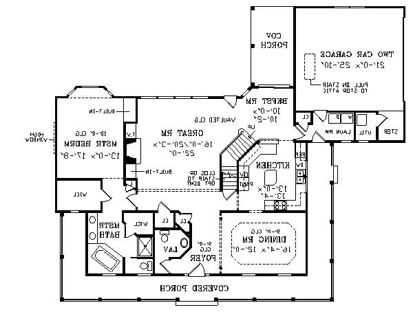 First Floor Plan image of Featured House Plan: BHG - 2802