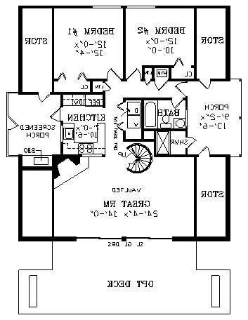 First Floor Plan image of Featured House Plan: BHG - 3824