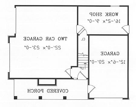 First Floor Plan image of Featured House Plan: BHG - 4470