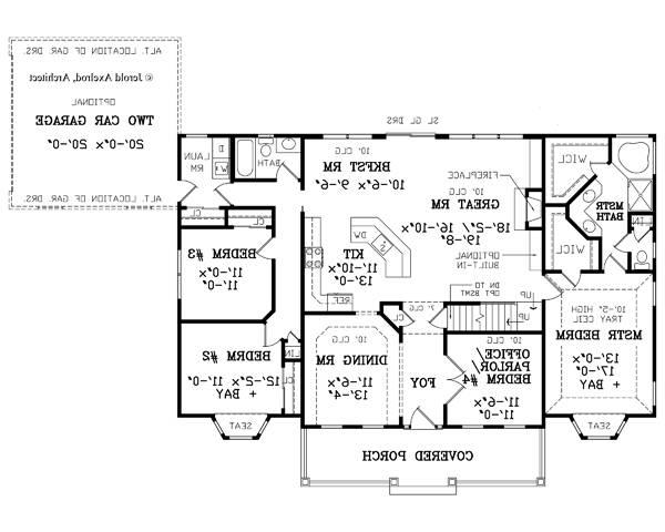 First Floor Plan image of Featured House Plan: BHG - 4609
