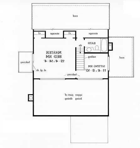 Second Floor Plan image of Featured House Plan: BHG - 3871
