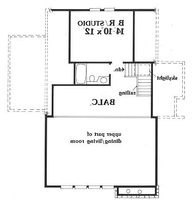 Second Floor Plan image of Featured House Plan: BHG - 3888