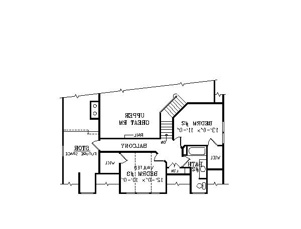 Second Floor Plan image of Featured House Plan: BHG - 2802