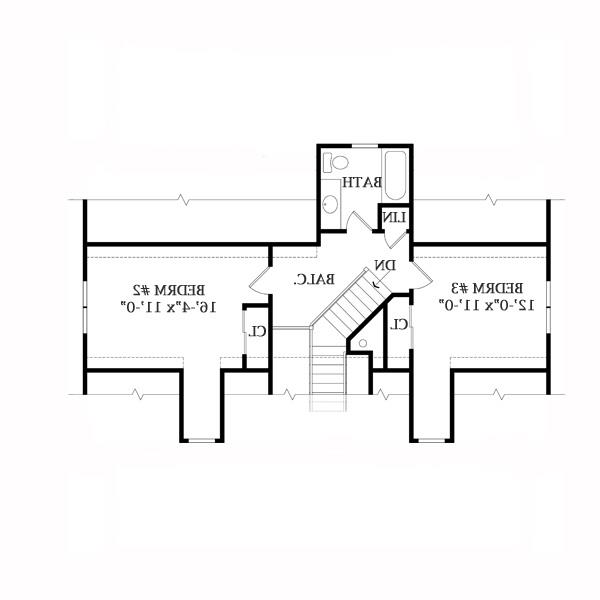 Second Floor Plan image of Featured House Plan: BHG - 2804