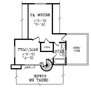 Second Floor Plan image of Featured House Plan: BHG - 3824