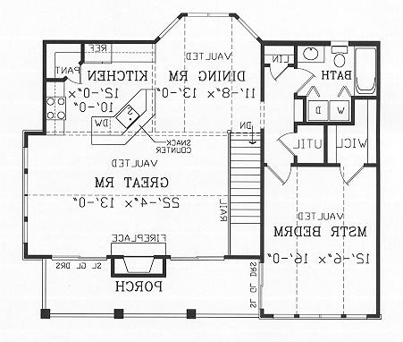 Second Floor Plan image of Featured House Plan: BHG - 4470