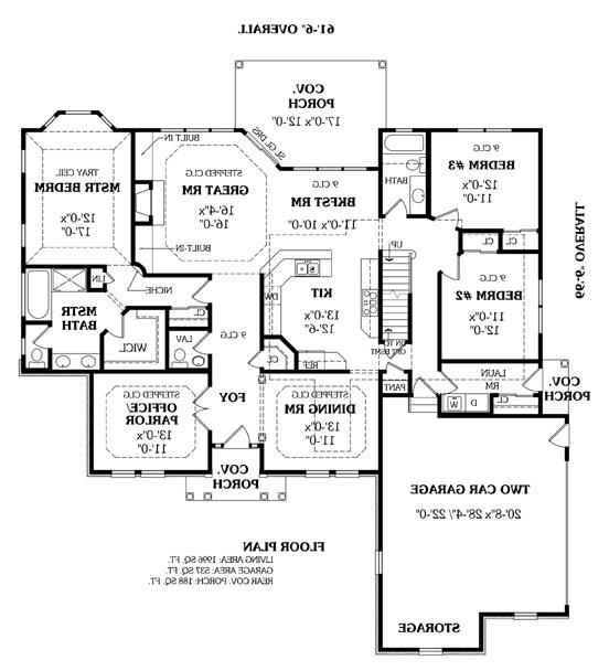 First Floor Plan image of Featured House Plan: BHG - 5607