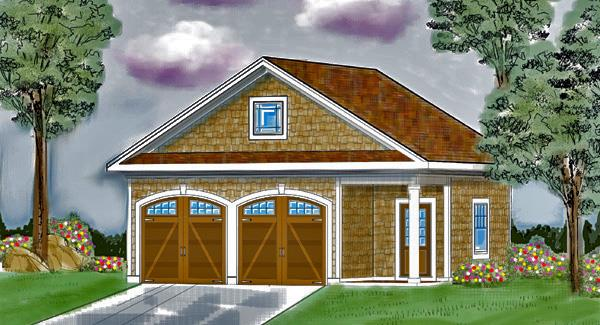 One Story Garage House Plan