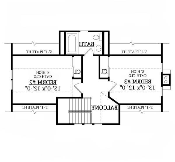 Second Floor Plan image of Featured House Plan: BHG - 6643