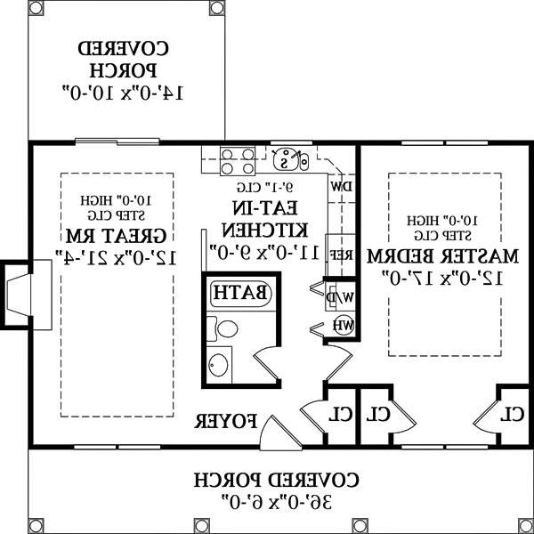 Floor Plan image of Featured House Plan: BHG - 6644