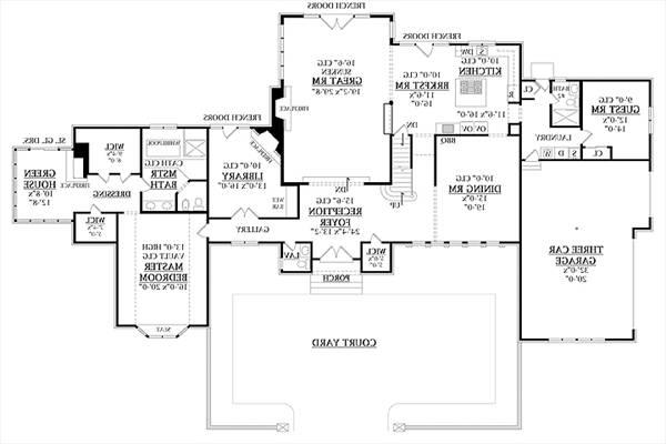 First Floor Plan image of Featured House Plan: BHG - 7907