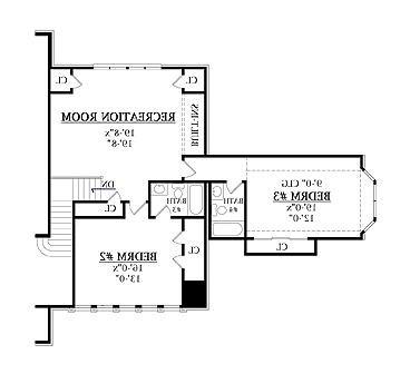 Second Floor Plan image of Featured House Plan: BHG - 7907