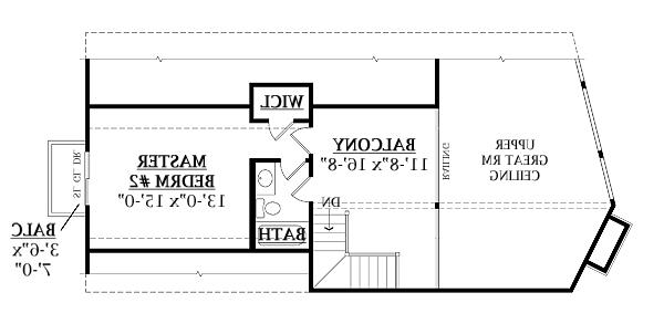 Second Floor Plan image of Featured House Plan: BHG - 7908