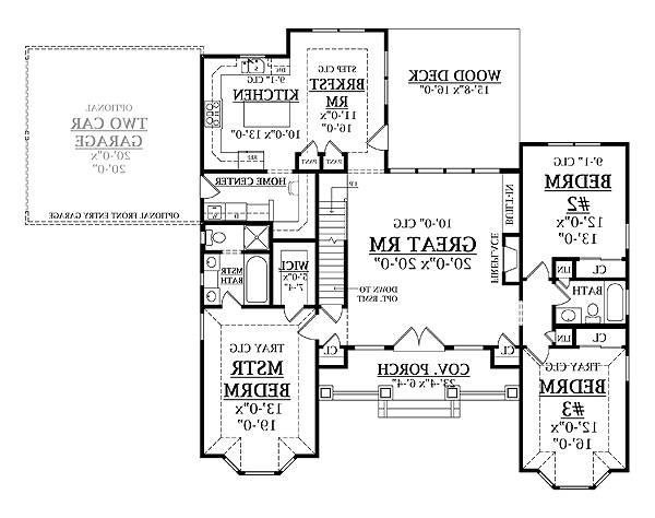 First Floor Plan image of Featured House Plan: BHG - 8338
