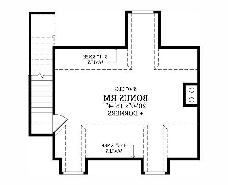 Bonus Room image of Featured House Plan: BHG - 8338
