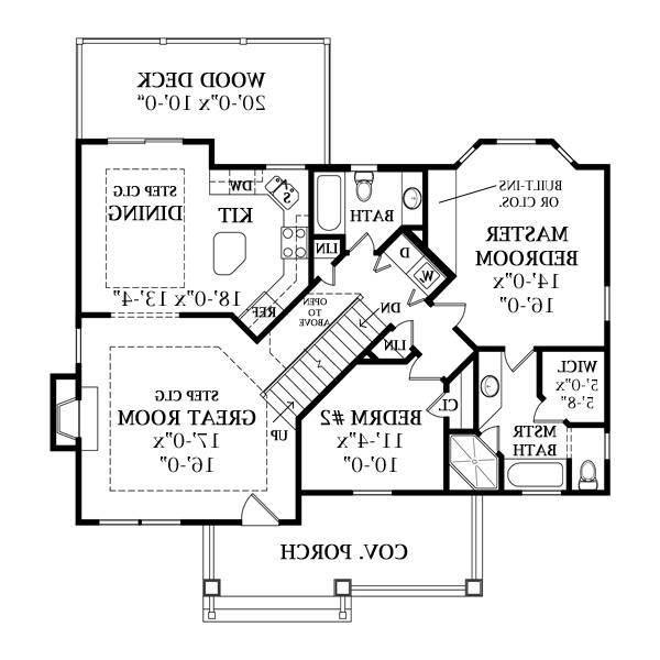 First Floor Plan image of Featured House Plan: BHG - 8736
