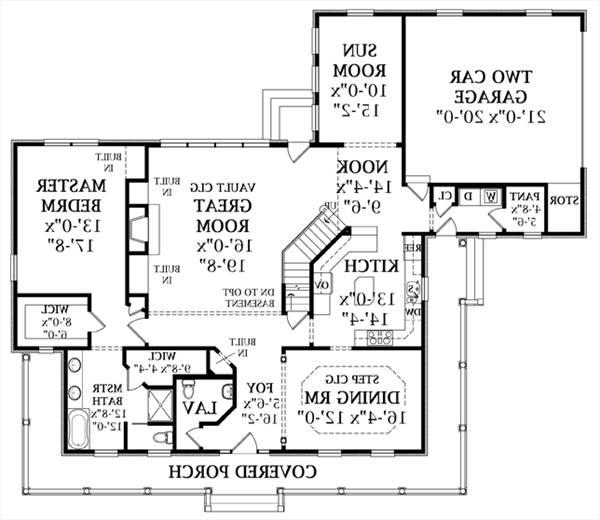 First Floor Plan image of Featured House Plan: BHG - 1583