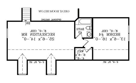 Second Floor Plan image of Featured House Plan: BHG - 1875