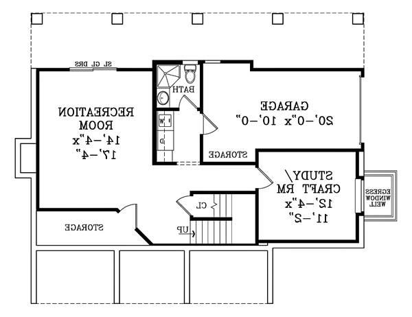 Walk-out Basement Plan image of Featured House Plan: BHG - 1876