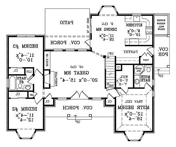 First Floor Plan image of Featured House Plan: BHG - 1877