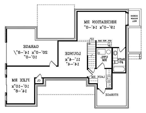 Walk-out Basement Plan image of Featured House Plan: BHG - 1877