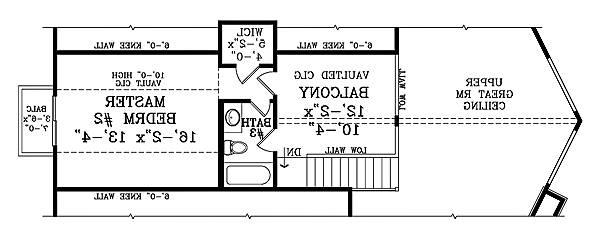 Second Floor Plan image of Featured House Plan: BHG - 1878