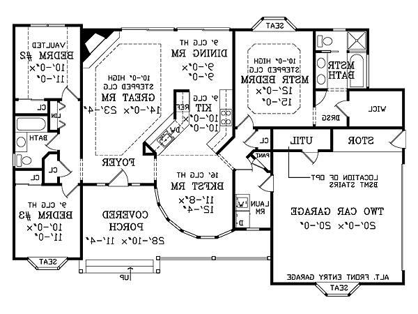 First Floor Plan image of Featured House Plan: BHG - 2803