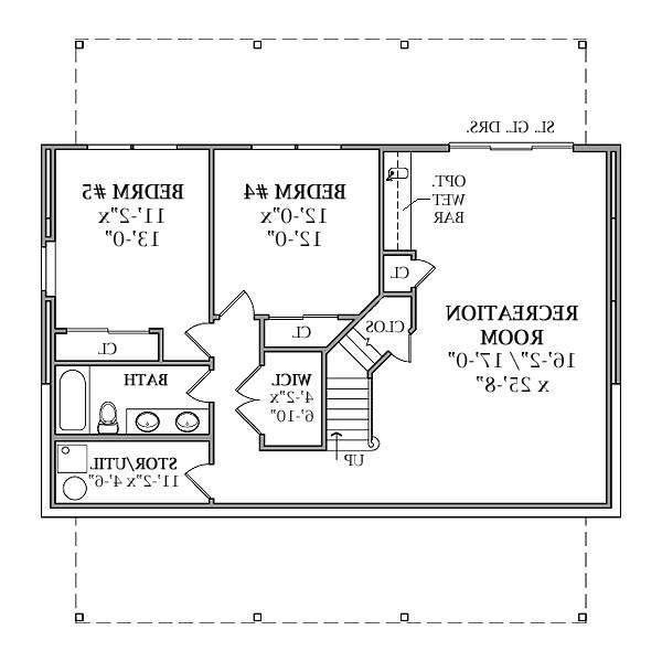 Optional Walk-out Basement Plan image of Featured House Plan: BHG - 7779