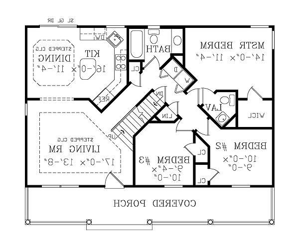 First Floor Plan image of Featured House Plan: BHG - 3800