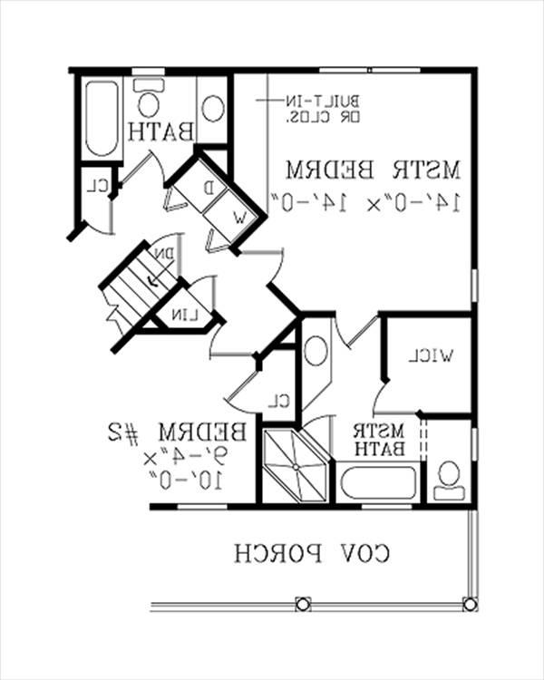 Alternate Floor Plan image of Featured House Plan: BHG - 3800