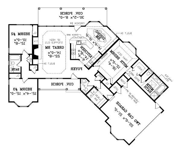 First Floor Plan image of Featured House Plan: BHG - 7764
