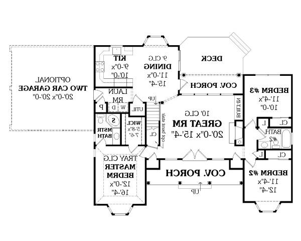 First Floor Plan image of Featured House Plan: BHG - 2808