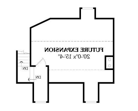 Second Floor Plan image of Featured House Plan: BHG - 2808