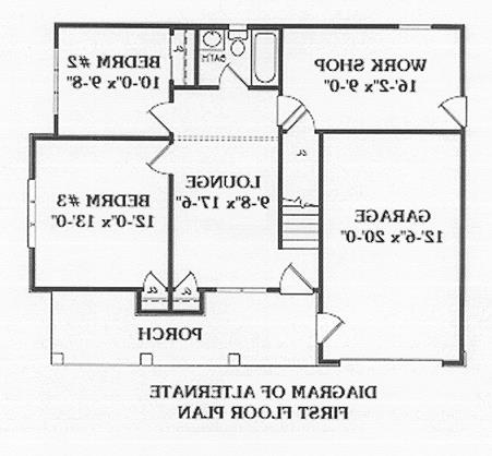 Optional Floor Plan image of Featured House Plan: BHG - 4470