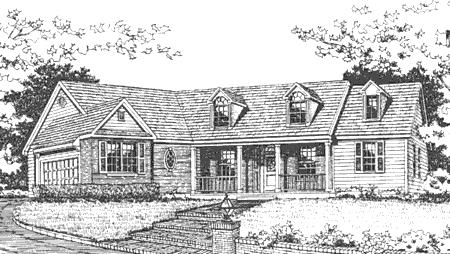 Front Rendering #2 image of Featured House Plan: BHG - 3764