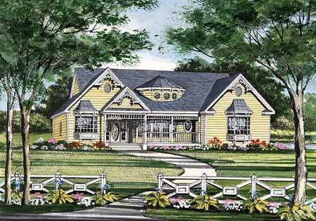 Front Rendering image of Featured House Plan: BHG - 2803
