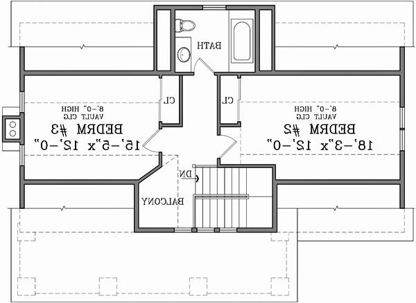 Second Floor Plan image of Featured House Plan: BHG - 3124