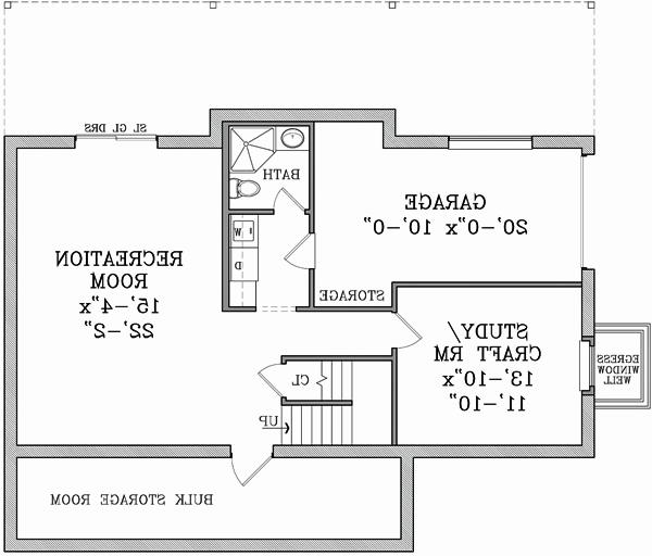Basement image of Featured House Plan: BHG - 3124