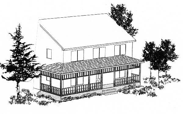 Front Rendering image of Featured House Plan: BHG - 6239