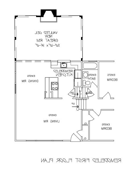 Remodeled First Floor Plan image of Featured House Plan: BHG - 6240