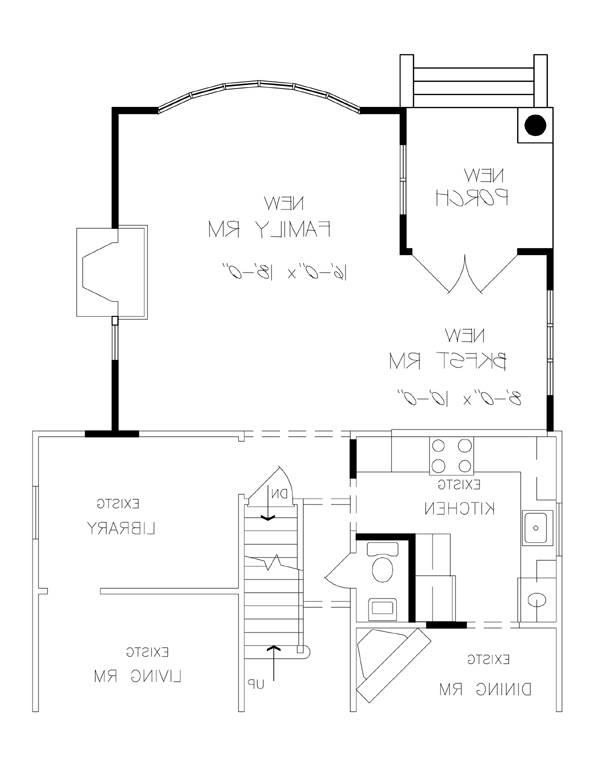 Remodeled First Floor Plan image of Featured House Plan: BHG - 6236