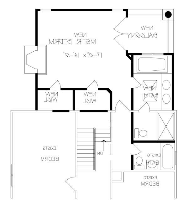 Remodeled Second Floor Plan image of Featured House Plan: BHG - 6236