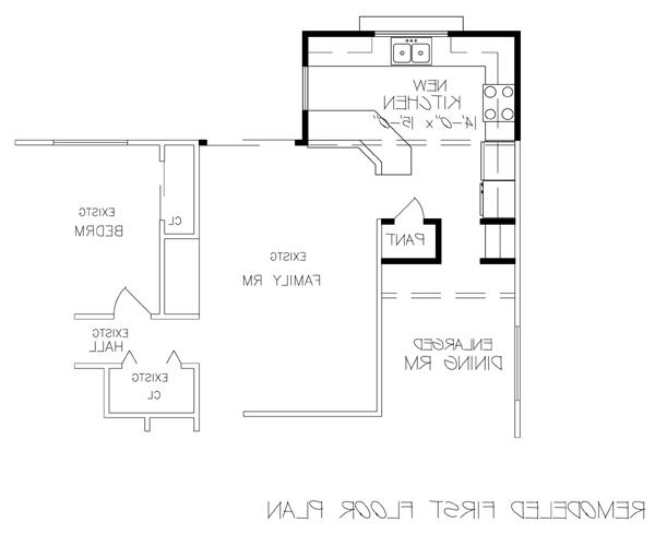 Remodeled First Floor Plan image of Featured House Plan: BHG - 6232