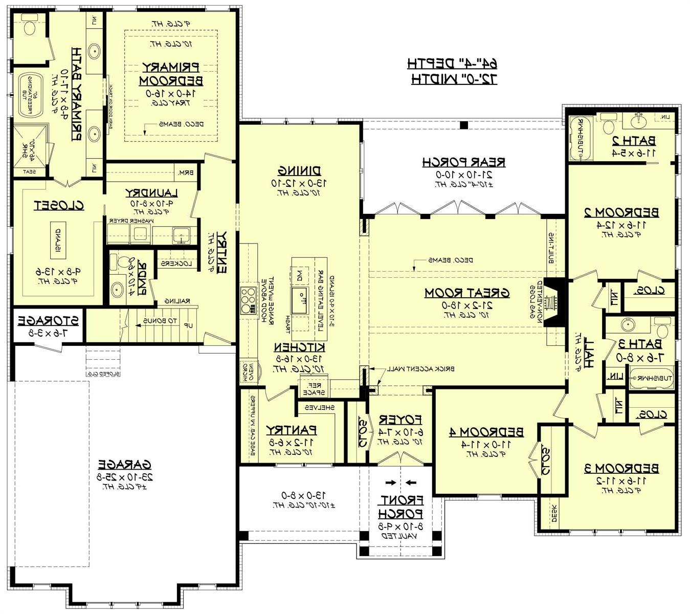 1st Floor image of Featured House Plan: BHG - 7281