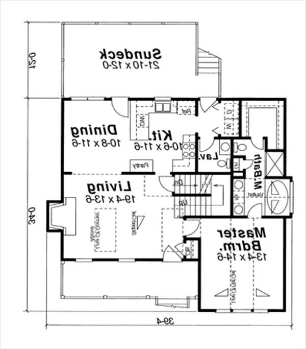 First Floor image of Featured House Plan: BHG - 6355