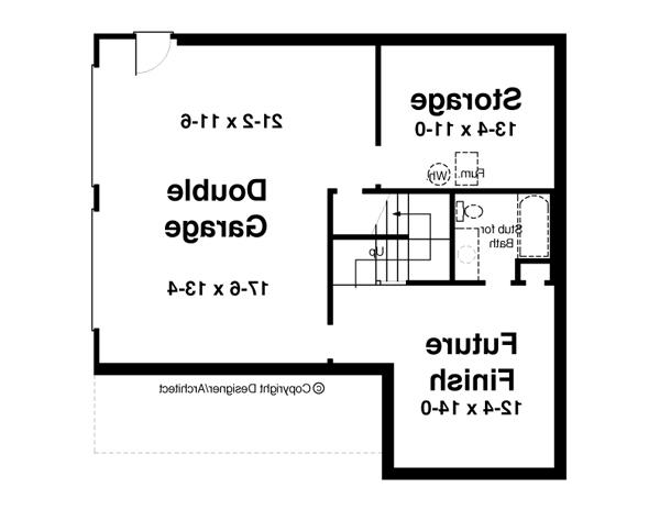 Lower Level image of Featured House Plan: BHG - 6355